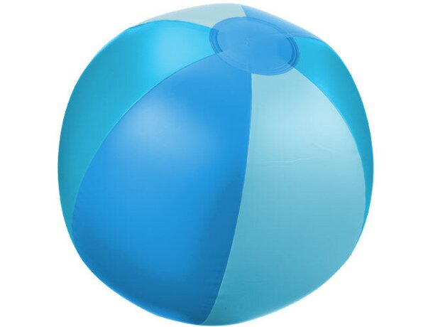 Pelota de playa opaca clásica de rayas personalizada azul