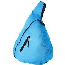 Bolsa urbana triangular azul aqua personalizado