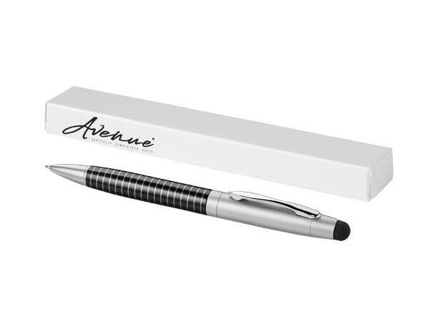 Bolígrafo puntero serigrafiable personalizado negro intenso