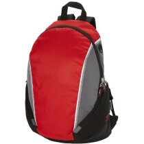 Mochila deportiva con bolsillos para portátil personalizada roja