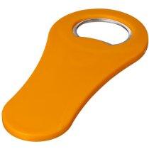 Abrebotellas de plástico con imán personalizado naranja