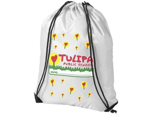 Mochila saco con cuerdas de varios colores personalizada