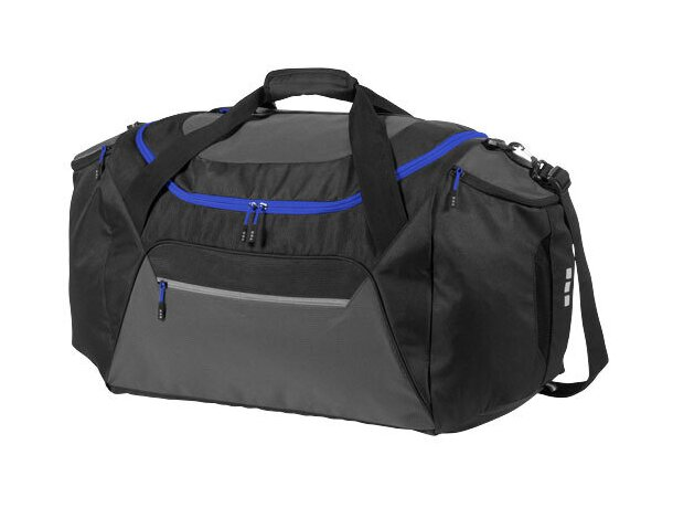 Bolsa de viaje grande de poliéster personalizada negro intenso