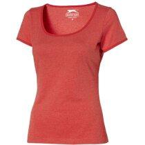Camiseta de mujer entallada grabada rojo claro