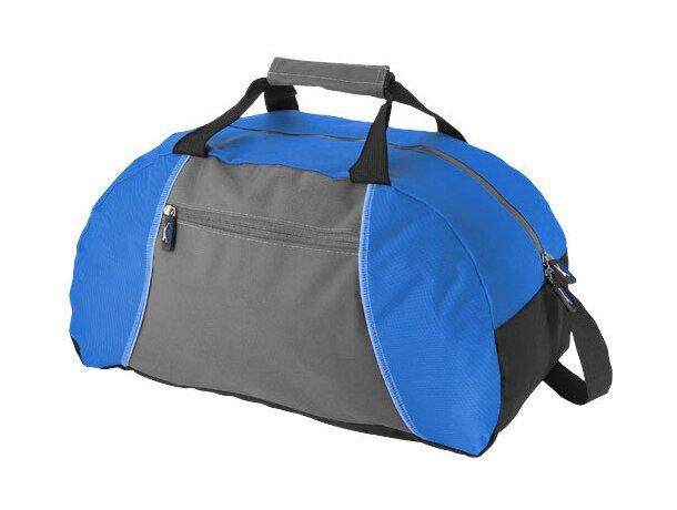 Bolsa de deporte con poliéster antidesgarros con logo azul medio