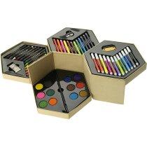 Estuche para colorear con 52 piezas personalizado multicolor