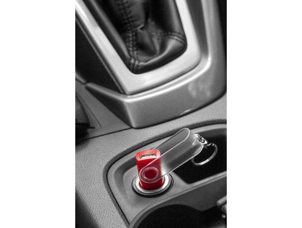 Llavero con adaptador de coche personalizado