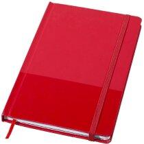 Libreta de notas A5 con tapas de cartón duro roja