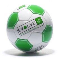 Pelota de fútbol con paneles en color negro y blanco personalizada