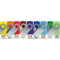 Memoria usb giratoria en varios colores personalizada