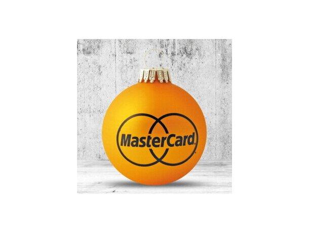 Bola de Navidad de 66 mm de diámetro naranja