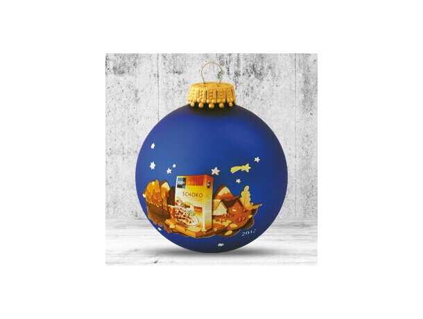 Bola de Navidad de 66 mm de diámetro azul