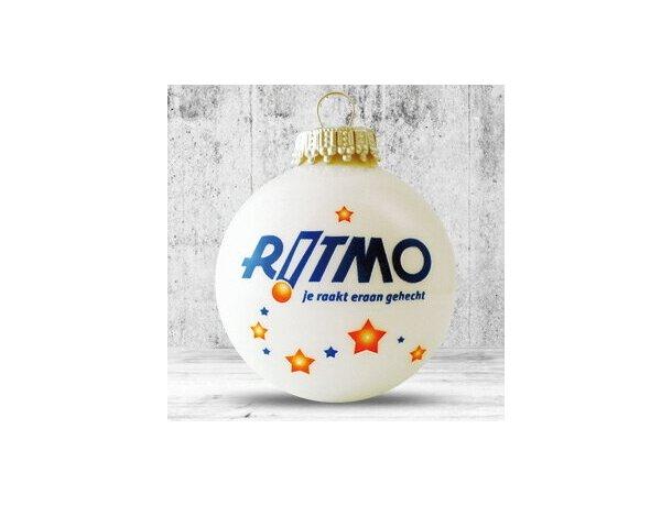 Bola de Navidad de 66 mm de diámetro blanca
