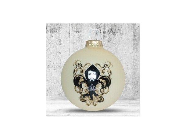 Bola de Navidad de 66 mm de diámetro beige