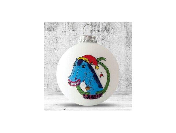 Bolas de Navidad personalizado de 57 mm blanca