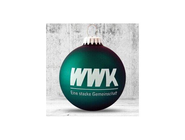 Bola de Navidad de 66 mm de diámetro verde