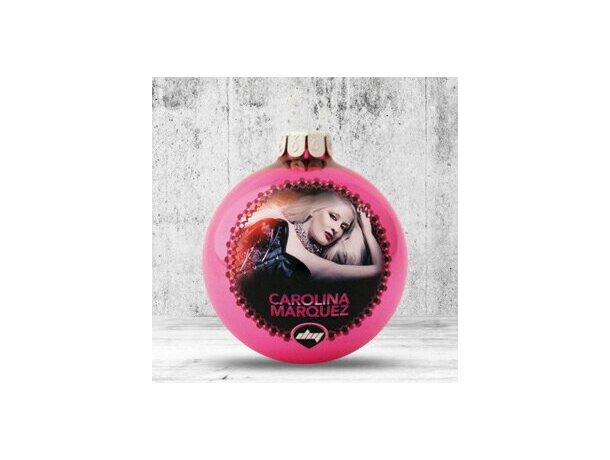 Bola de Navidad de 66 mm de diámetro fucsia