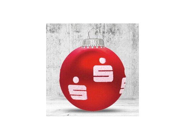 Bola de Navidad de fabricación especial 82 mm roja