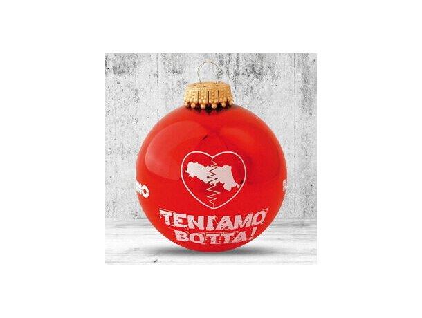 Bola de Navidad de 66 mm de diámetro roja