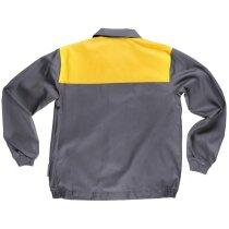 Cazadora básicos gris amarillo