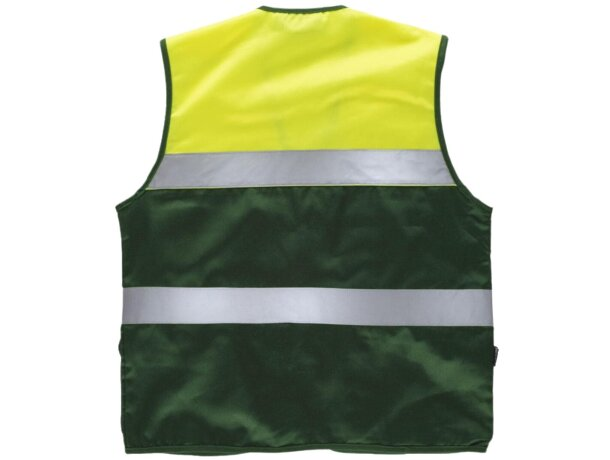 Chaleco fluor verde oscuro amarillo a.v.