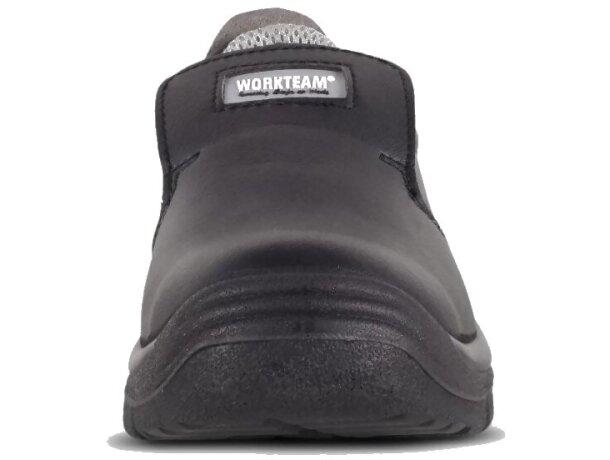 Zapato de microfibra sin cordones para sector alimentación negro