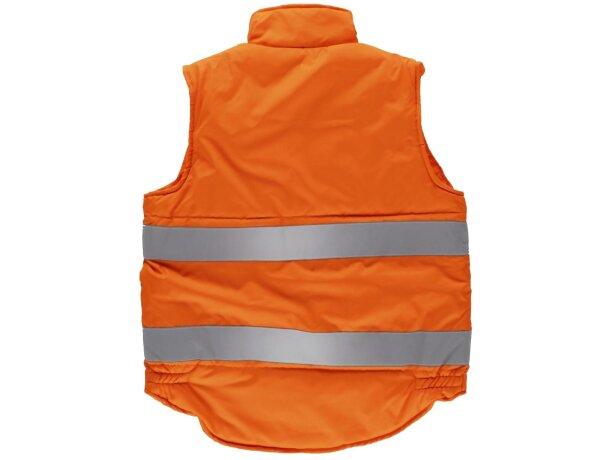 Chaleco acolchado con bolsillos de alta visibilidad naranja a.v.