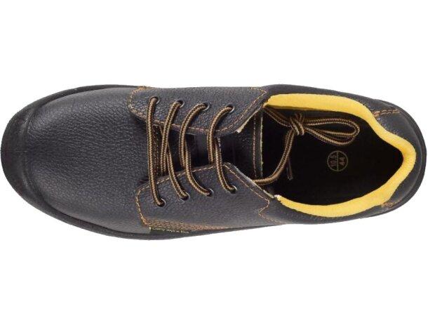 Zapato de piel hidrófugo con cordones negro