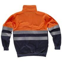 Sudadera fluor marino naranja a.v.