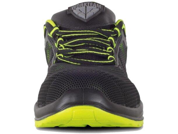 Zapato protección verde lima   negro