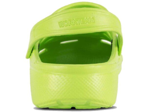 Zueco ultraligero y cómodo verde pistacho