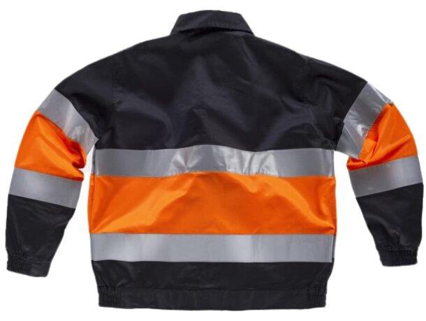 Cazadora con reflectantes y cuello camisero negro naranja a.v.