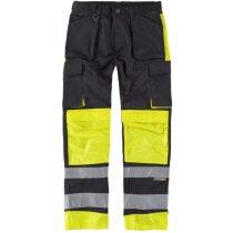 Pantalon fluor negro amarillo a.v.