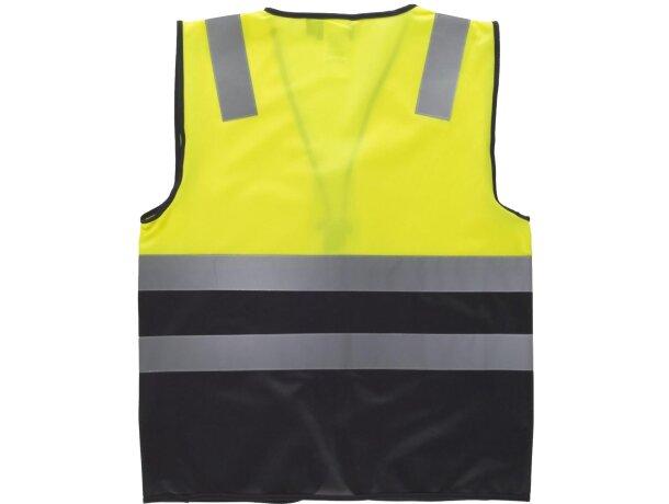 Chaleco combinado de alta visibilidad amarillo a.v. negro