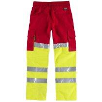 Pantalon fluor rojo amarillo a.v.