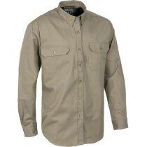 Camisa laboral de manga larga con bolsillos personalizada