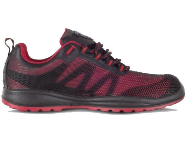Zapato protección rojo negro