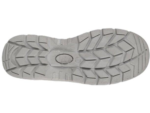 Zapato de microfibra sin cordones para sector alimentación blanco