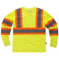 Camiseta fluor amarillo a.v.  naranja a.v.
