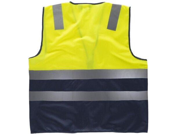 Chaleco combinado de alta visibilidad amarillo a.v. marino
