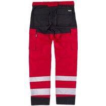 Pantalon fluor rojo negro