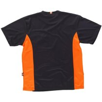 Camiseta future negro naranja a.v.