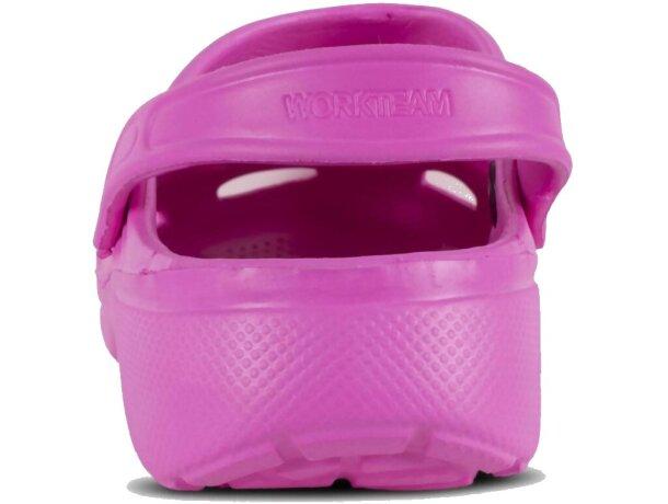 Zueco ultraligero y cómodo rosa fucsia