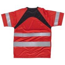 Camiseta fluor rojo negro