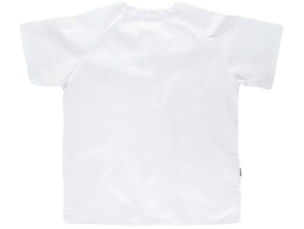 Casaca lisa en manga corta blanco