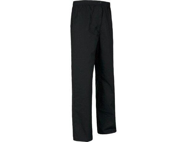 Pantalón de algodón liso recto negro