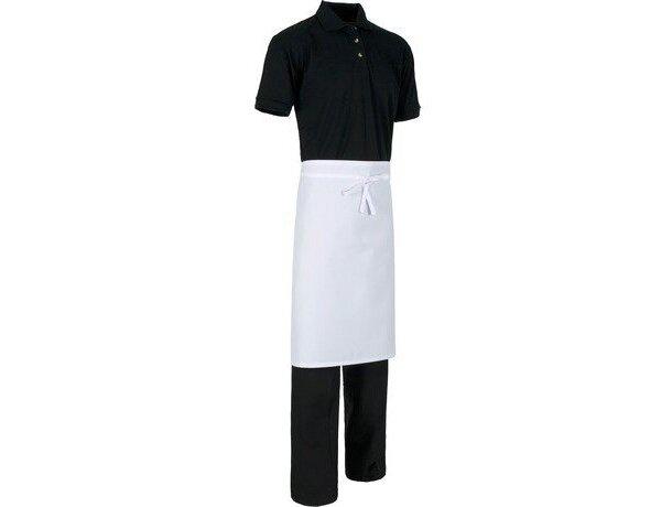 delantal de estilo francés sin bolsillos para hostelería personalizado blanco