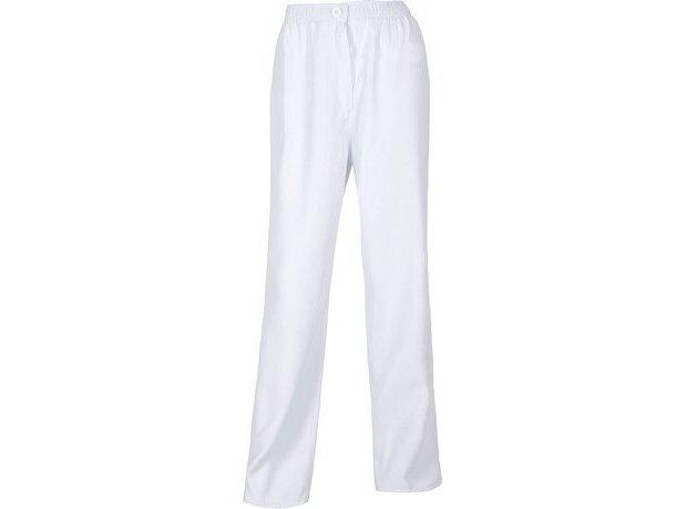 Pantalón liso de poliester en varios colores personalizado blanco