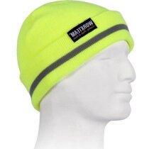 Gorro de alta visibilidad para invierno personalizado amarillo