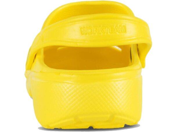 Zueco ultraligero y cómodo amarillo